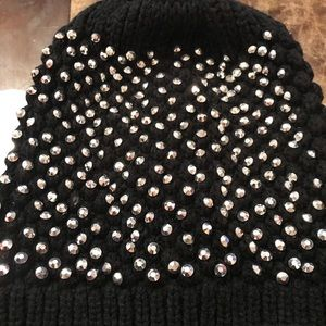 Black Rhinestone Hat